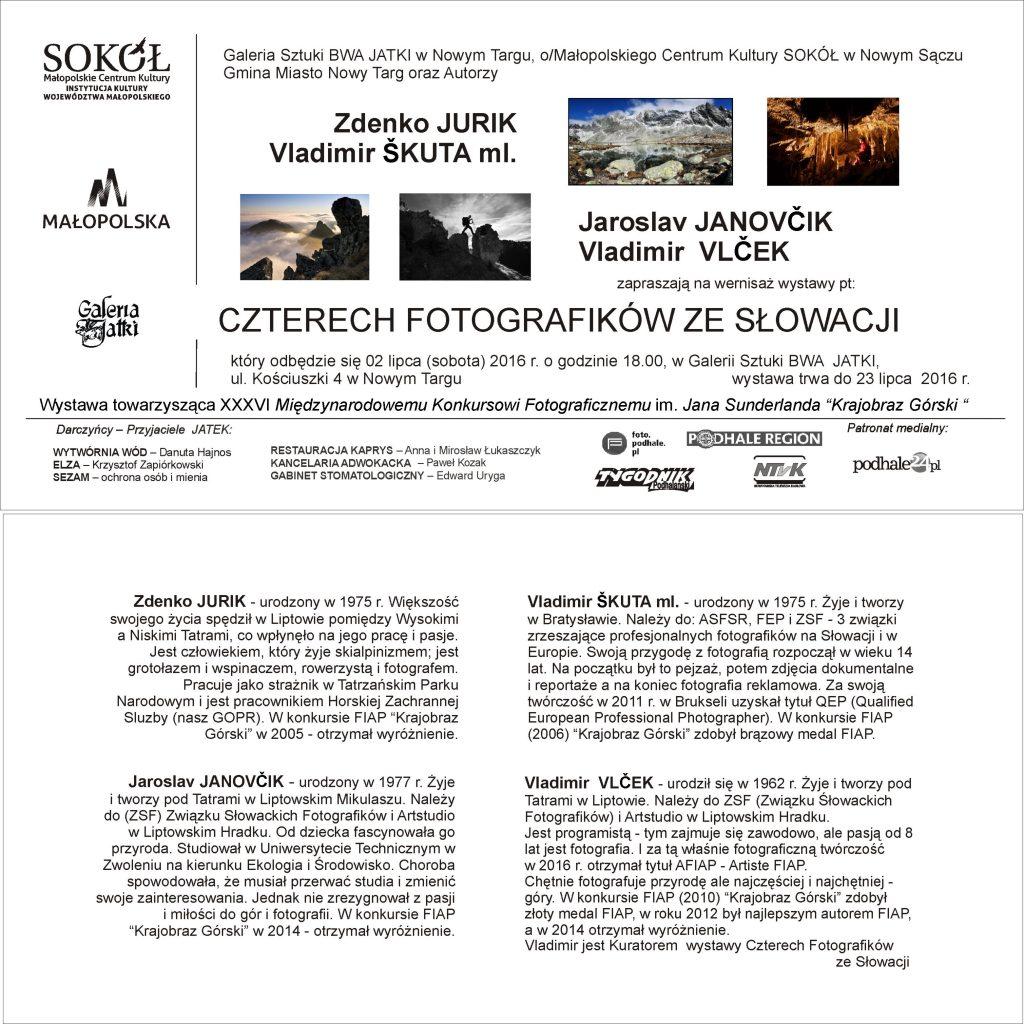 Vlado Skuta - vystava Nowy Targ - pozvanka