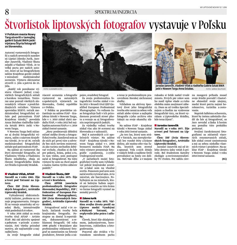 Skuta Vlcek Jurik Janovcik - vystava v Polsku